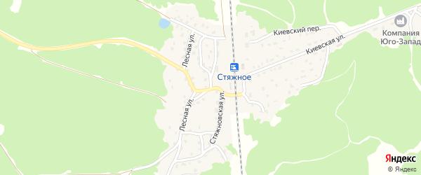 Стяжновская улица на карте поселка Стяжного с номерами домов