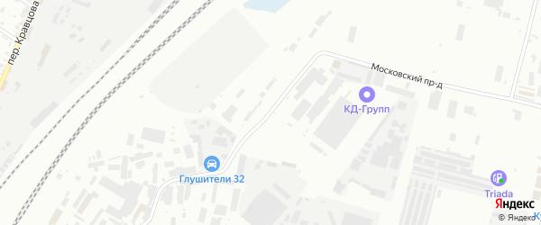 Московский проезд на карте Брянска с номерами домов
