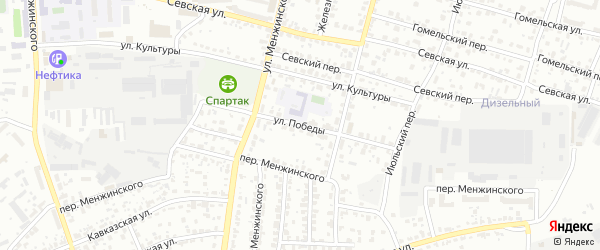 Улица Победы на карте Брянска с номерами домов