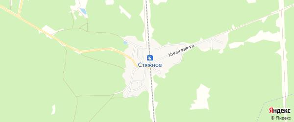 Карта поселка Стяжного в Брянской области с улицами и номерами домов