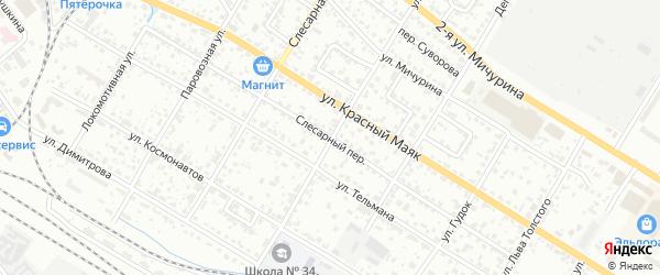 Слесарный переулок на карте Брянска с номерами домов