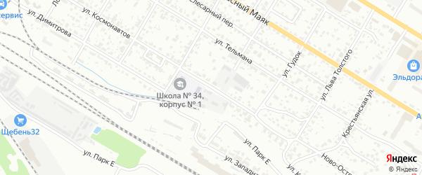 Улица Космонавтов на карте Брянска с номерами домов