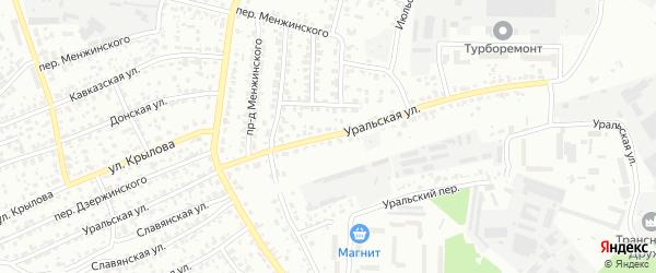 Уральская улица на карте Брянска с номерами домов