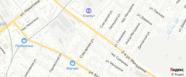 Слесарная улица на карте Брянска с номерами домов