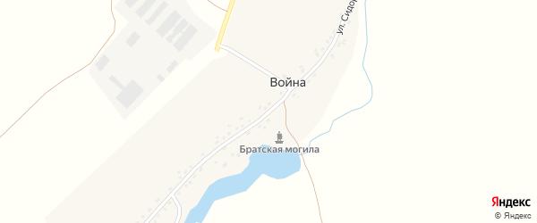 Улица Сидоренко на карте села Война с номерами домов