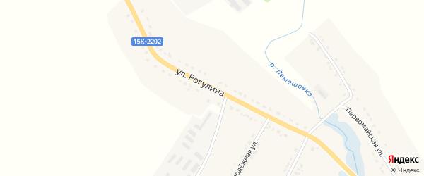 Улица Рогулина на карте села Княгинино с номерами домов