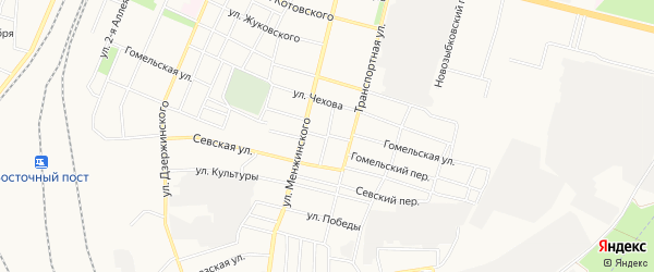 Со Черемушки ул Железнодорожная территория на карте Брянска с номерами домов