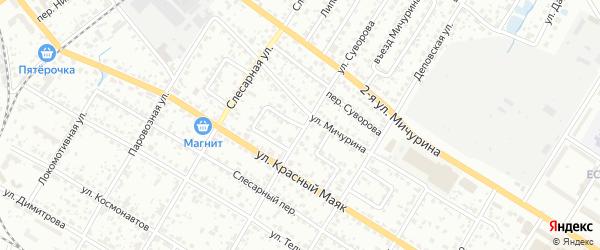 Переулок Красный Маяк на карте Брянска с номерами домов