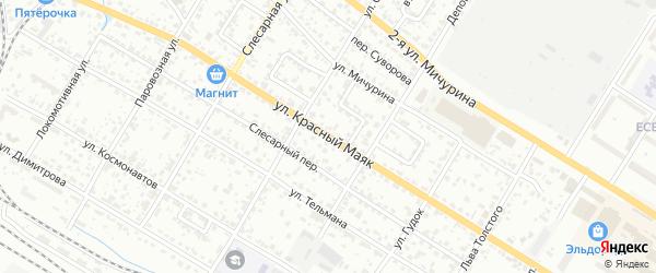 Улица Красный Маяк на карте Брянска с номерами домов
