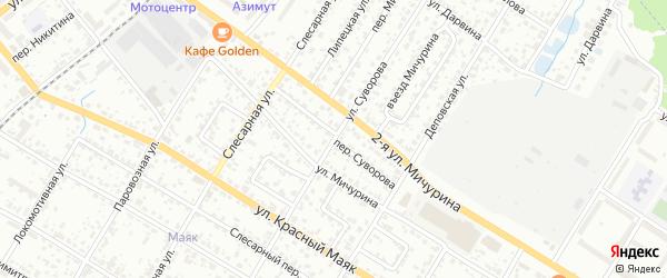 Переулок Суворова на карте Брянска с номерами домов
