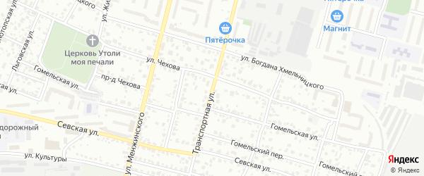 Транспортная улица на карте Брянска с номерами домов
