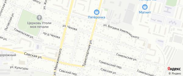 Со Черемушки ул Транспортная территория на карте Брянска с номерами домов