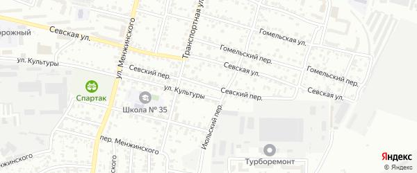 Севский переулок на карте Брянска с номерами домов