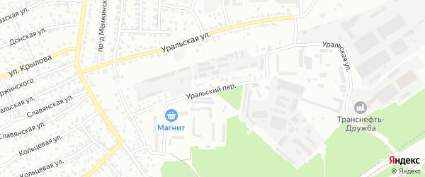 Уральский переулок на карте Брянска с номерами домов