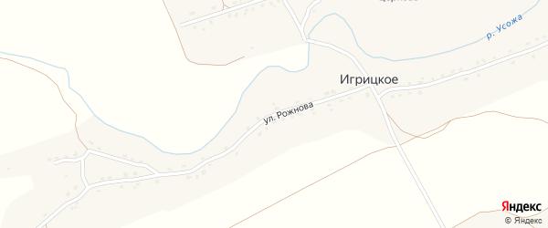 Улица Рожнова на карте Игрицкого села с номерами домов