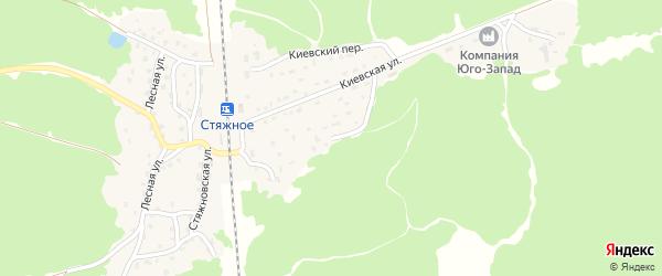 Киевский переулок на карте поселка Стяжного с номерами домов