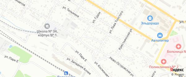 Переулок Льва Толстого на карте Брянска с номерами домов