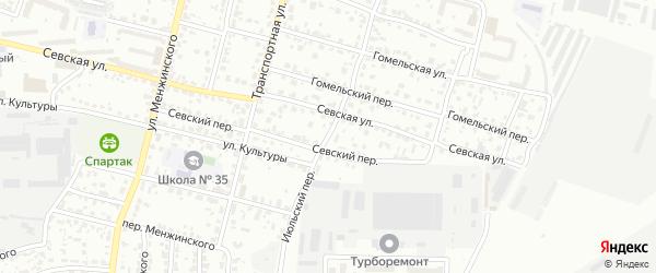 Июльский переулок на карте Брянска с номерами домов