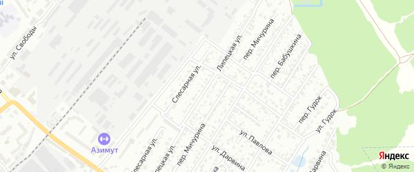 Липецкая улица на карте Брянска с номерами домов