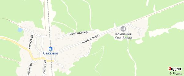 Киевская улица на карте поселка Стяжного с номерами домов