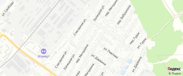 Переулок Мичурина на карте Брянска с номерами домов