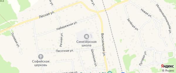 Полевая улица на карте поселка Синезерки с номерами домов