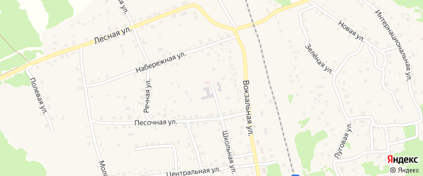 Санаторная улица на карте поселка Синезерки с номерами домов