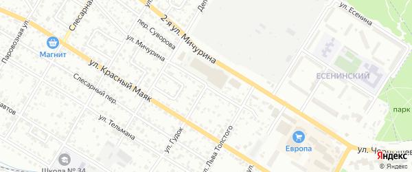 Территория ГСК Гудок на карте Брянска с номерами домов
