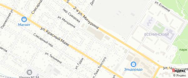 Улица Гудок на карте Брянска с номерами домов