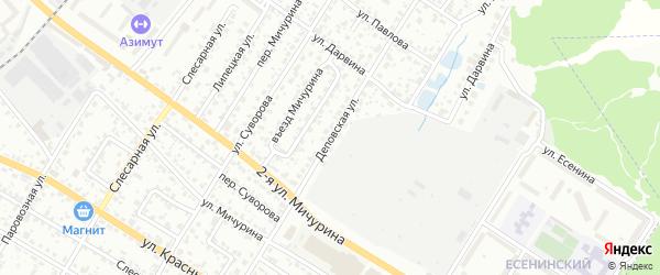 Деповская улица на карте Брянска с номерами домов