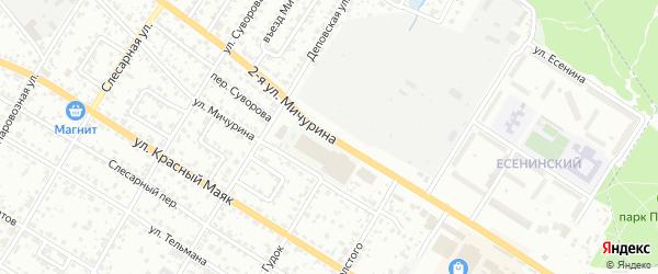 Улица 2-я Мичурина на карте Брянска с номерами домов