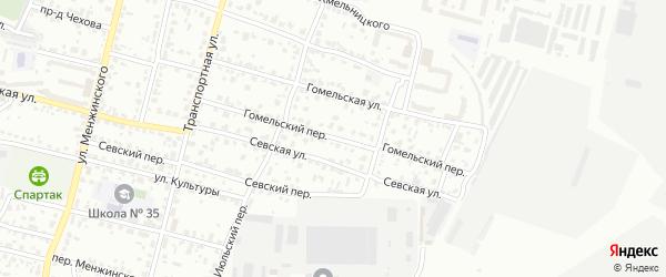 Гомельский переулок на карте Брянска с номерами домов