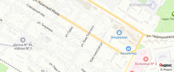 Улица Льва Толстого на карте Брянска с номерами домов