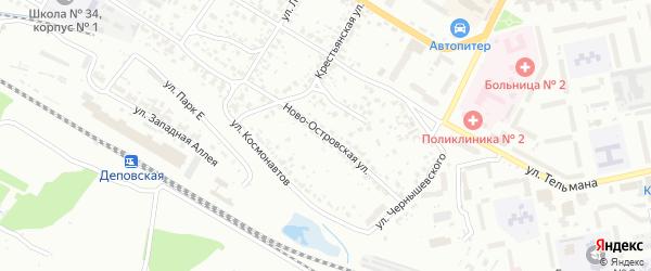 Ново-Островская улица на карте Брянска с номерами домов