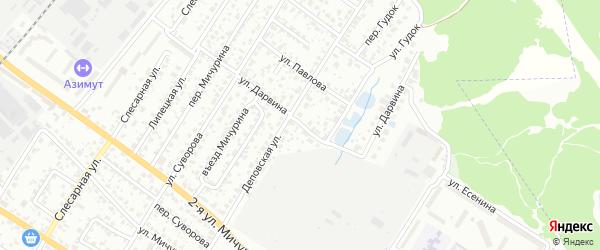 Улица Дарвина на карте Брянска с номерами домов