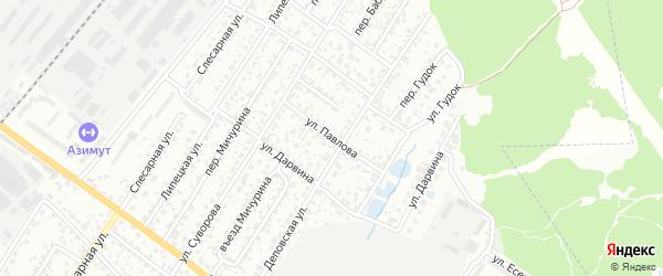 Улица Павлова на карте Брянска с номерами домов