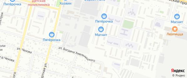 Новозыбковский переулок на карте Брянска с номерами домов