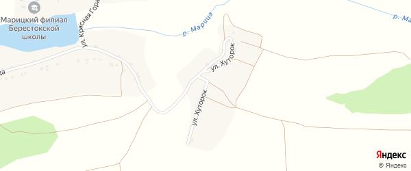 Улица Хуторок на карте села Марицкого хутора с номерами домов