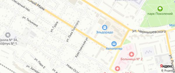 Крестьянская улица на карте Брянска с номерами домов