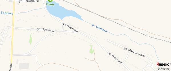 Улица Пушкина на карте Фокино с номерами домов