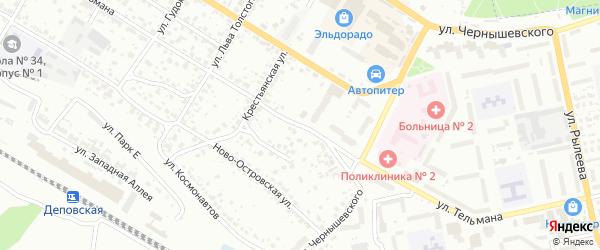 Улица Тельмана на карте Брянска с номерами домов