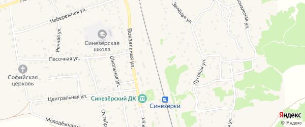 Заречная улица на карте поселка Синезерки с номерами домов