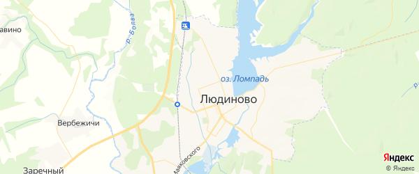 Карта Людиново с районами, улицами и номерами домов