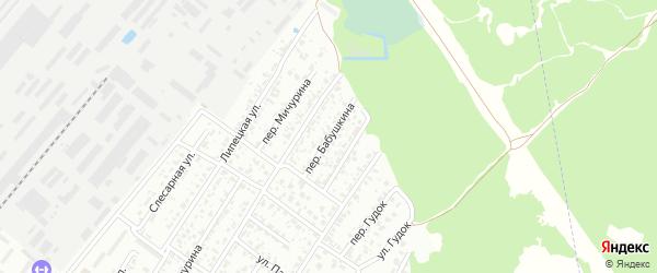 Переулок Бабушкина на карте Брянска с номерами домов