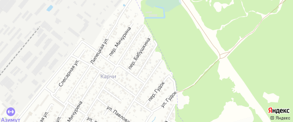 Переулок 2-й Бабушкина на карте Брянска с номерами домов