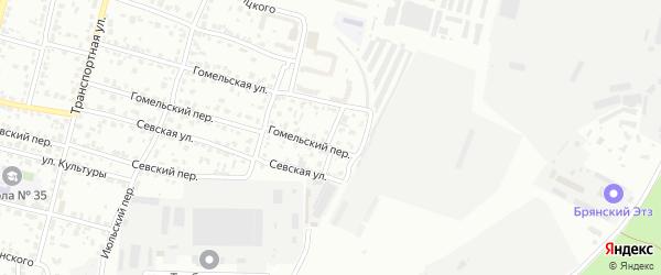 Пробный переулок на карте Брянска с номерами домов