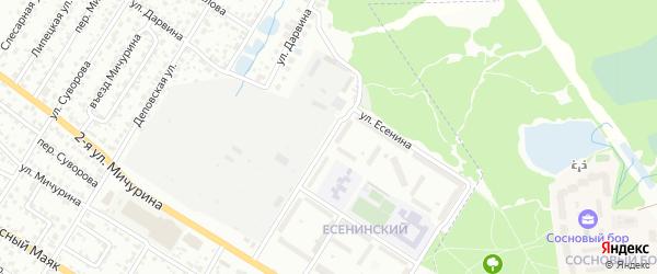 Улица Есенина на карте Брянска с номерами домов
