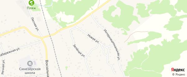 Новая улица на карте поселка Синезерки с номерами домов