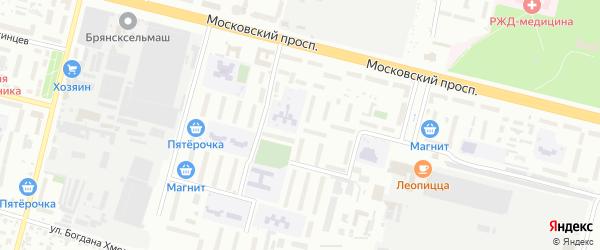 Новозыбковская улица на карте Брянска с номерами домов