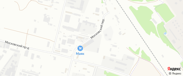 Московский переулок на карте Брянска с номерами домов